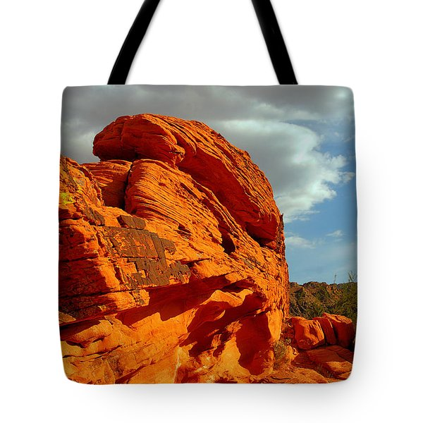 Valley of Fire - Born to be wild Tote Bag by Christine Till