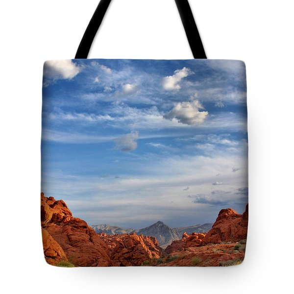 Valley Of Fire Nevada - A Must-see For Desert Lovers Tote Bag by Christine Till