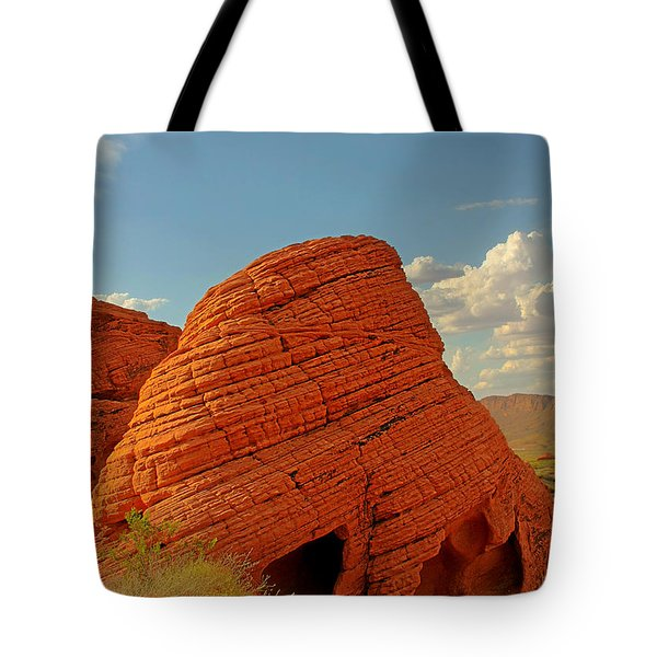 Valley Of Fire Nevada - Beehives Tote Bag by Christine Till
