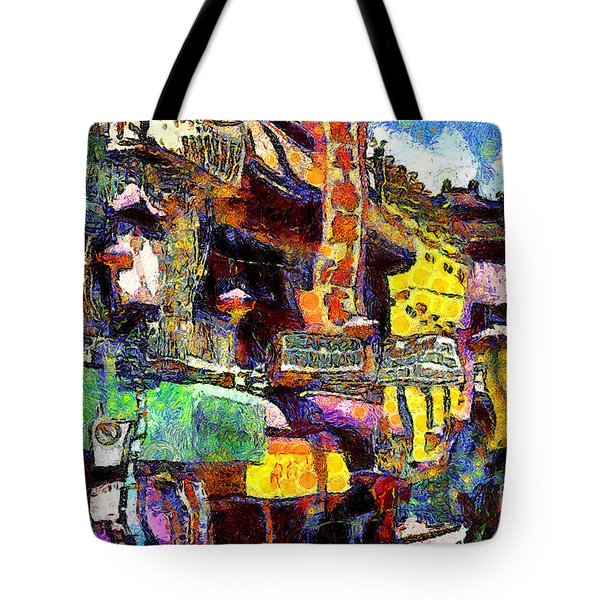 Van Gogh Meets Up With The Screamer in San Francisco Chinatown . 7D7174 Tote Bag by Wingsdomain Art and Photography