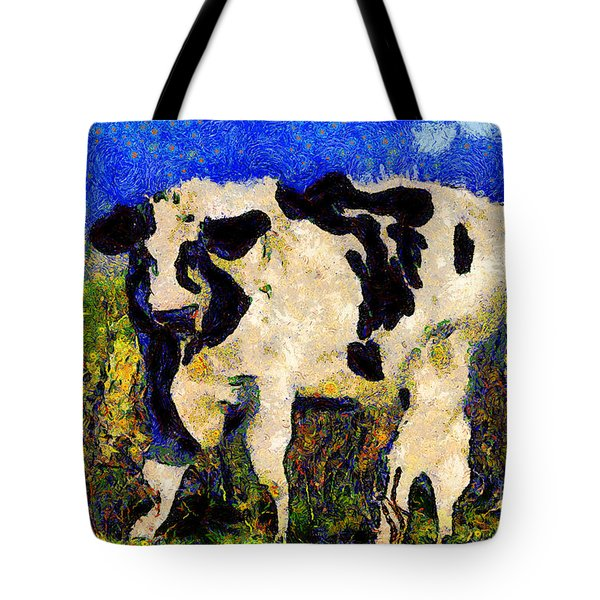 Van Gogh.s Big Bull . 7D12437 Tote Bag by Wingsdomain Art and Photography