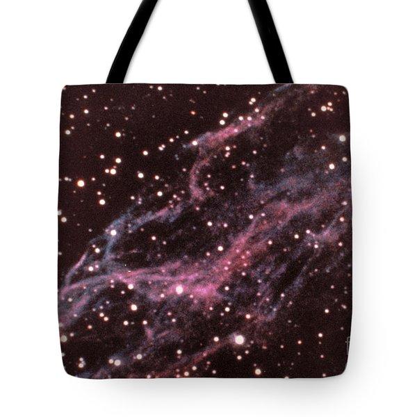 Veil Nebula In Cygnus Tote Bag by USNO / Science Source