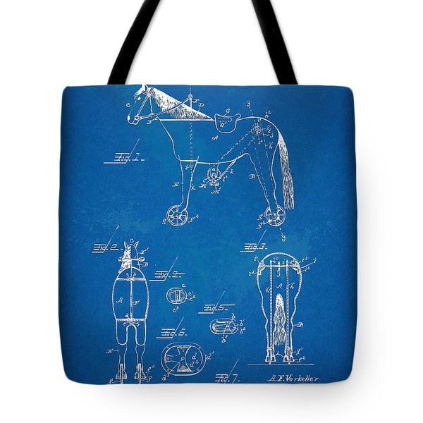 Velocipede Horse-bike Patent Artwork 1893 Tote Bag by Nikki Marie Smith