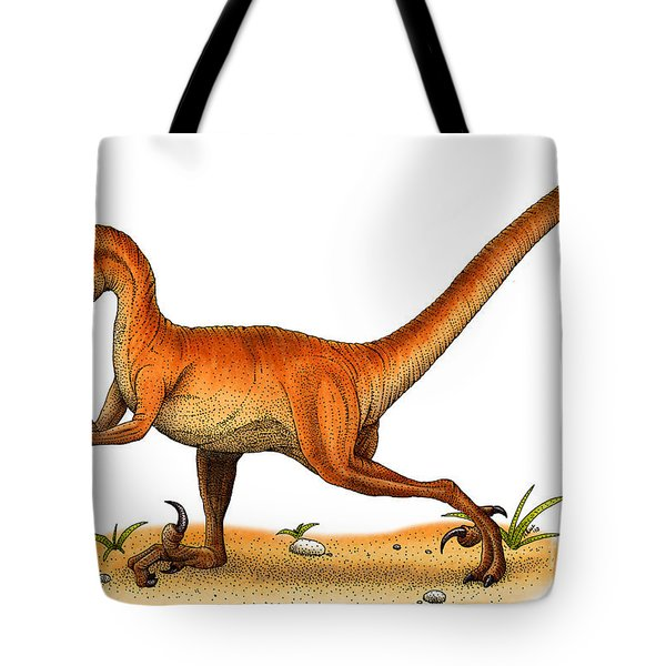 Velociraptor Tote Bag by Roger Hall and Photo Researchers