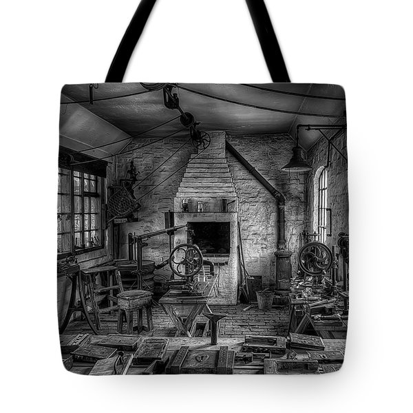 Victorian Locksmith's Workshop Tote Bag by Adrian Evans