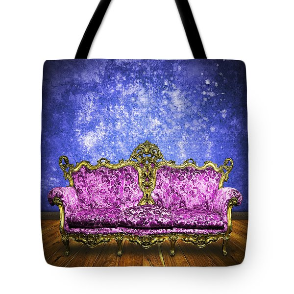 Victorian Sofa In Retro Room Tote Bag by Setsiri Silapasuwanchai