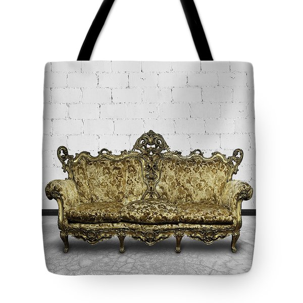 Victorian Sofa In White Room Tote Bag by Setsiri Silapasuwanchai