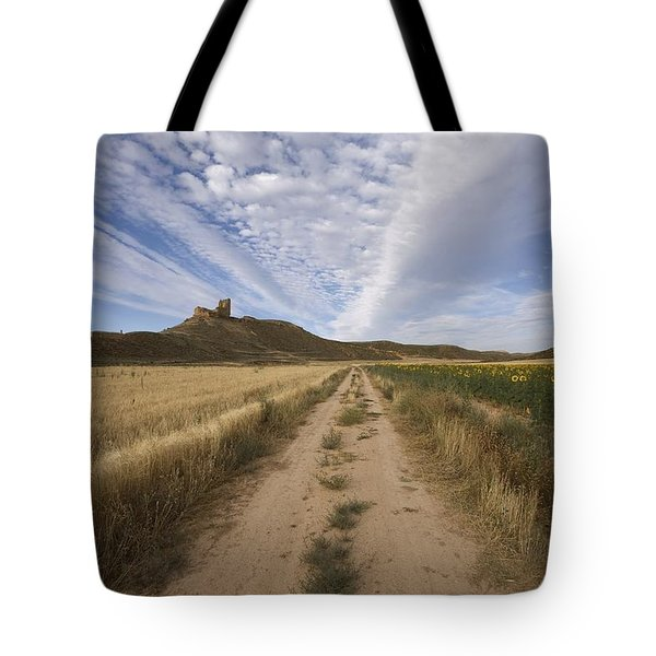 View Of A Castle Tote Bag by Paul Maeyaert
