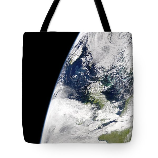View Of Earth From Space Showing Tote Bag by Stocktrek Images