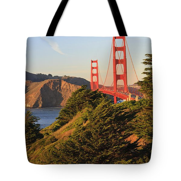 View Of Golden Gate Bridge San Tote Bag by Stuart Westmorland