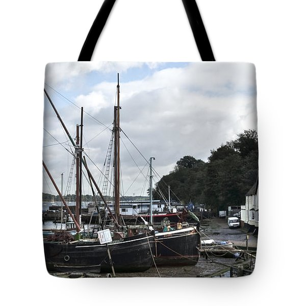View Of Pin Mill From King's Yard Tote Bag by Gary Eason