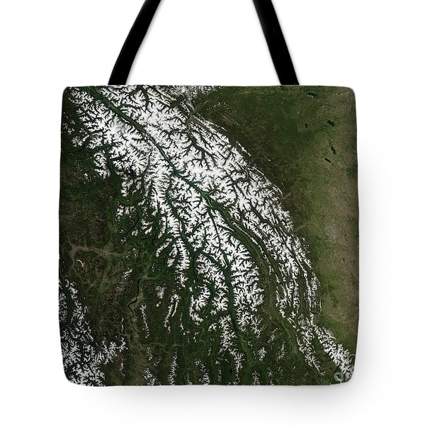 View Of The Rocky Mountains Tote Bag by Stocktrek Images