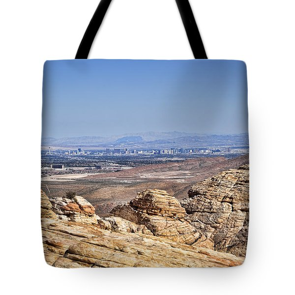 View of Vegas Tote Bag by Kelley King