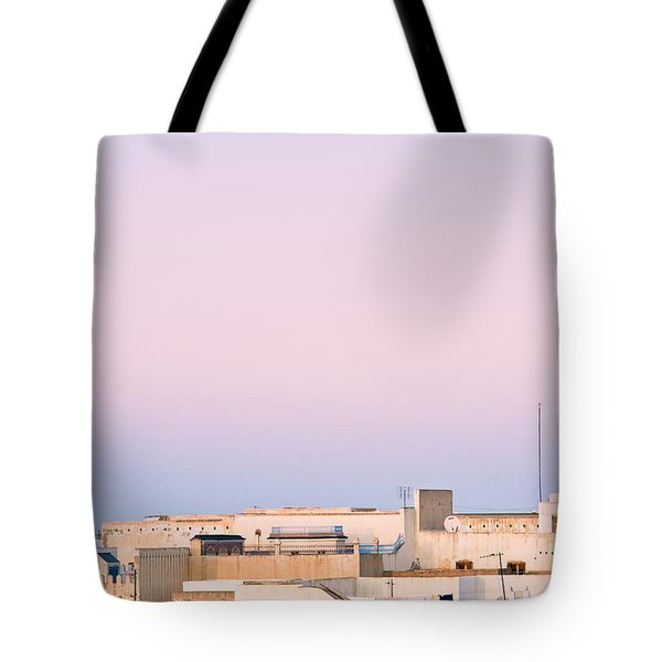View Over Rooftops Kairouan, Tunisia Tote Bag by David DuChemin