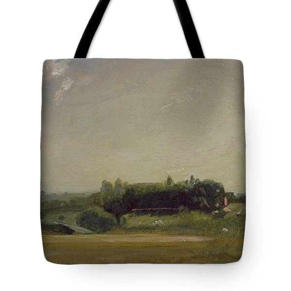 View Towards The Rectory - East Bergholt Tote Bag by John Constable