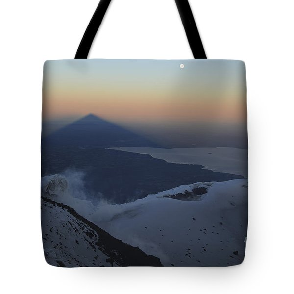 Villarrica, Summit View With Shadow Tote Bag by Martin Rietze