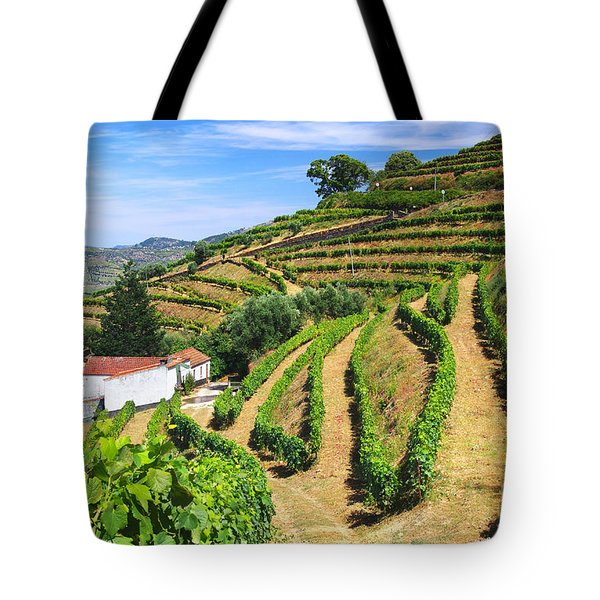 Vineyard Landscape Tote Bag by Carlos Caetano