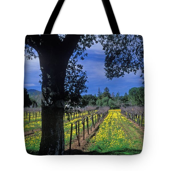 Vineyard View Tote Bag by Kathy Yates