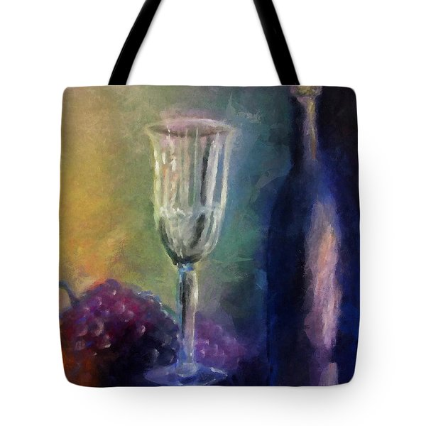 Vino Tote Bag by Michelle Calkins