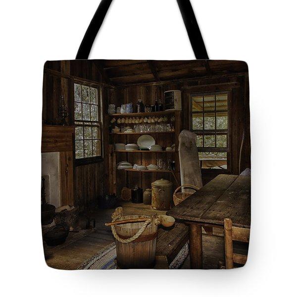 Vintage 1850s Cracker Kitchen Tote Bag by Lynn Palmer