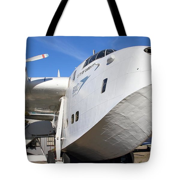 Vintage BOAC British Overseas Airways Corporation Speedbird Flying Boat . 7D11255 Tote Bag by Wingsdomain Art and Photography