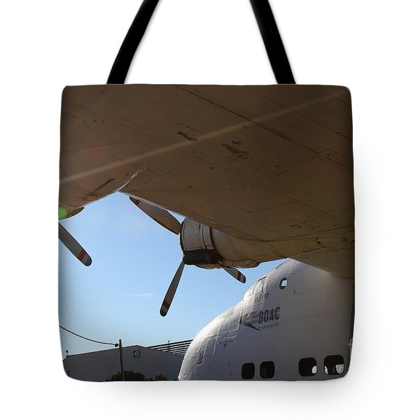 Vintage BOAC British Overseas Airways Corporation Speedbird Flying Boat . 7D11286 Tote Bag by Wingsdomain Art and Photography