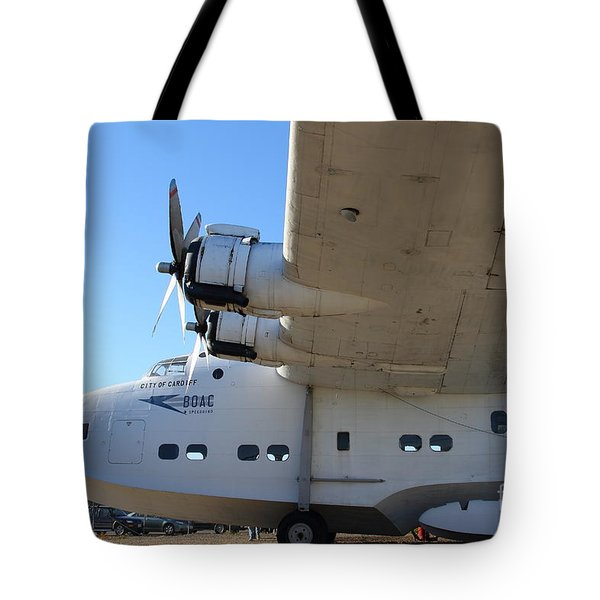 Vintage BOAC British Overseas Airways Corporation Speedbird Flying Boat . 7D11291 Tote Bag by Wingsdomain Art and Photography