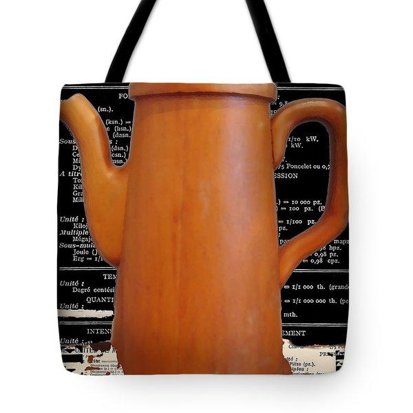 Vintage Cafe Coffee Pot  Print Tote Bag by AdSpice Studios