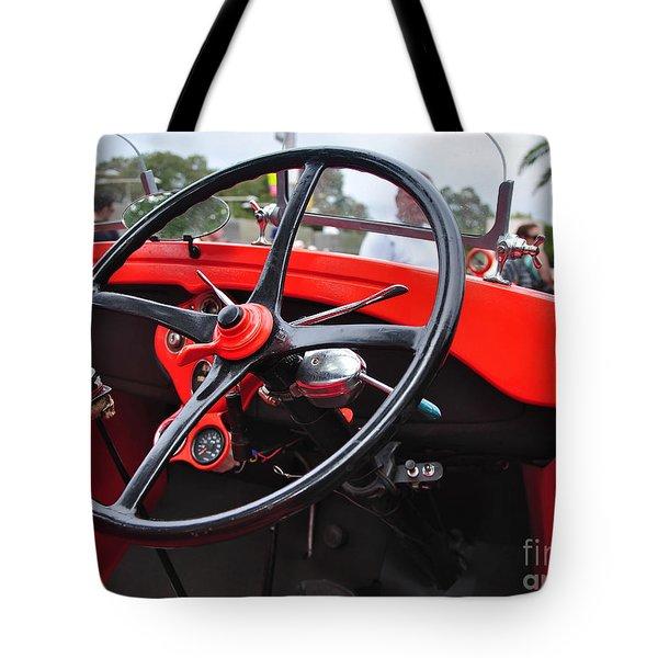 Vintage Ford - Steering Wheel... Controls - Circa 1920s Tote Bag by Kaye Menner