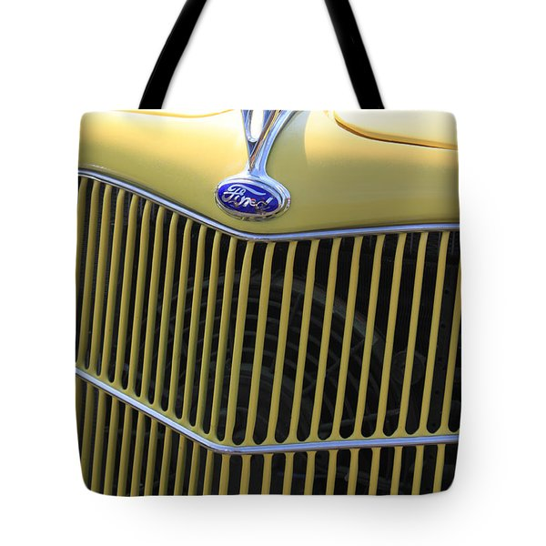 Vintage Ford V8 Grill Tote Bag by Suzanne Gaff
