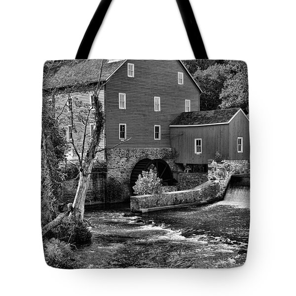 Vintage Mill In Black And White Tote Bag by Paul Ward
