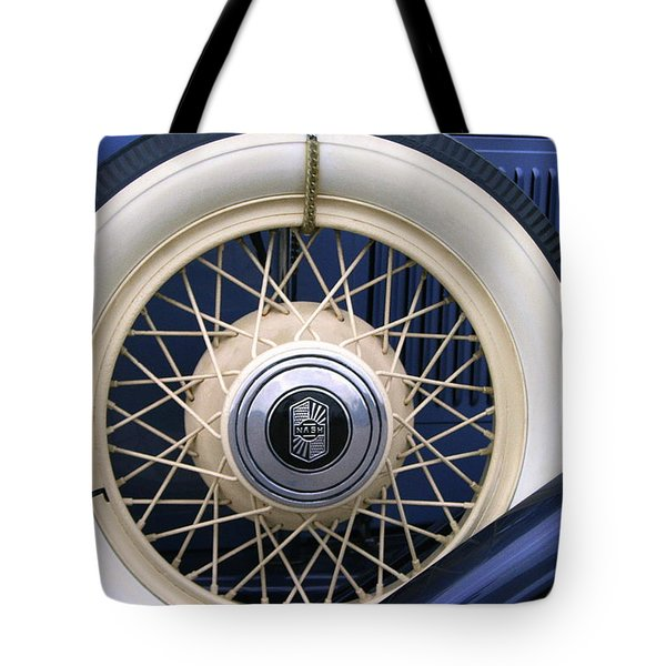 Vintage Nash Tire Tote Bag by Kay Novy