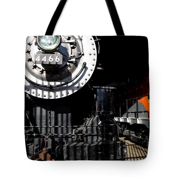 Vintage Railroad Locomotive Trains In The Train House . 7d11633 Tote Bag by Wingsdomain Art and Photography