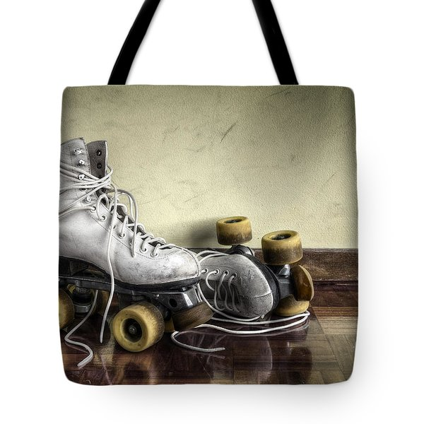 Vintage roller skates  Tote Bag by Carlos Caetano