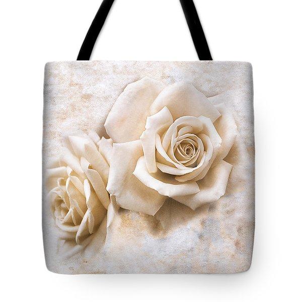 Vintage Rose Iv Square Tote Bag by Jai Johnson