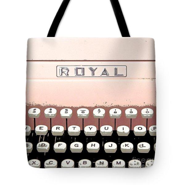 Vintage Royal Typewriter Tote Bag by Glennis Siverson