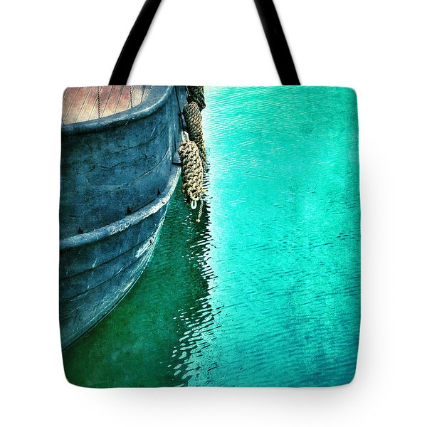 Vintage Ship Tote Bag by Jill Battaglia