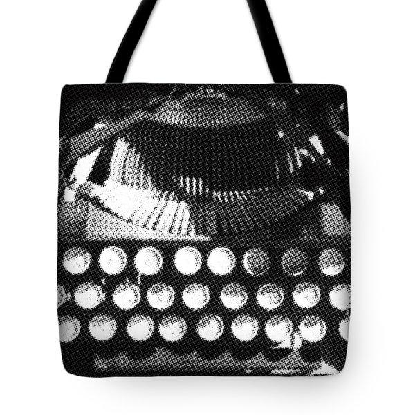 Vintage Typewriter Silk Screen Tote Bag by adSpice Studios