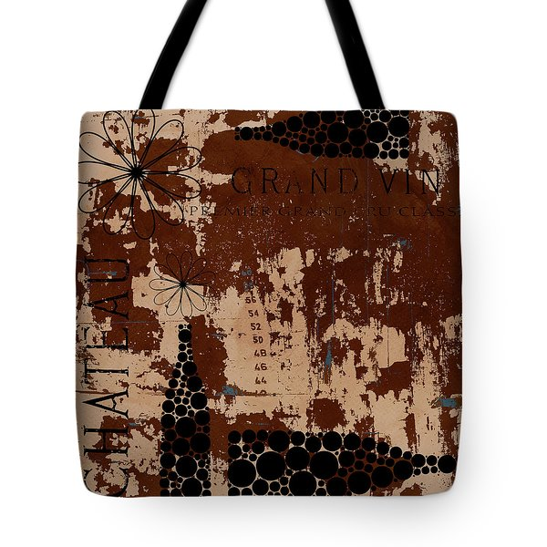 Vintage Wine Tote Bag by Frank Tschakert