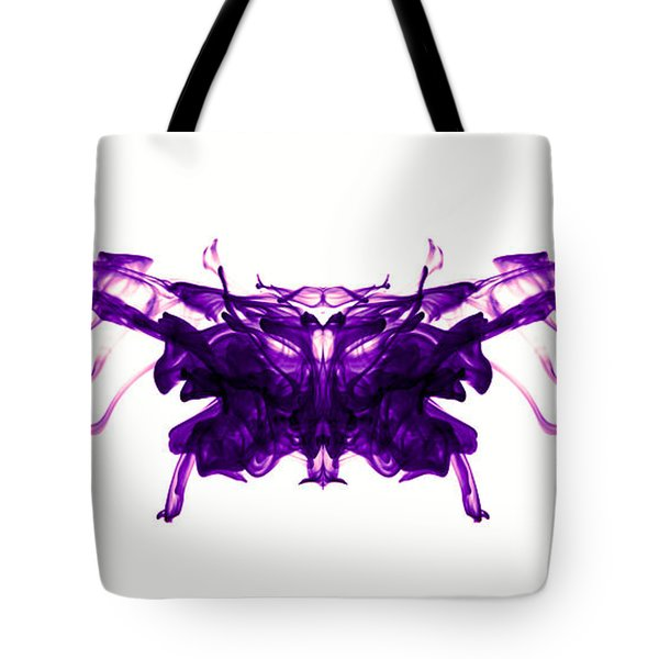 Violet Abstract Butterfly Tote Bag by Sumit Mehndiratta