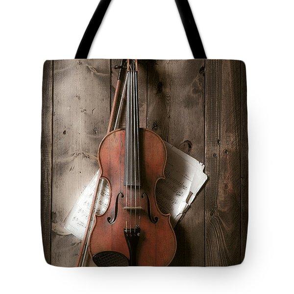 Violin Tote Bag by Garry Gay