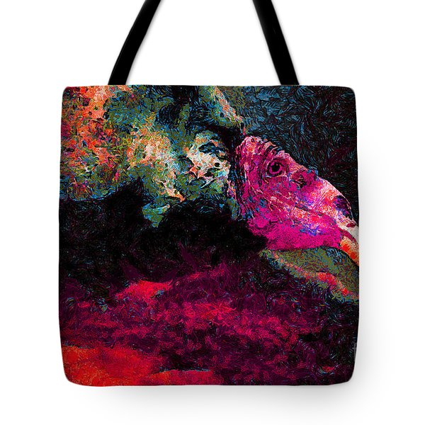Vulture In Van Gogh.s Dream . V2 . 40d8879 Tote Bag by Wingsdomain Art and Photography