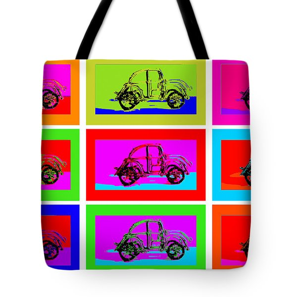 Vw Beatle 1b Tote Bag by Mauro Celotti