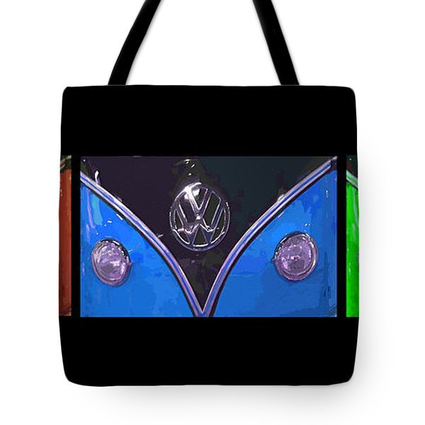 VW Triptych 2 Tote Bag by Cheryl Young