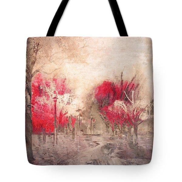 Walk Me Into Yesterday Tote Bag by Tara Turner