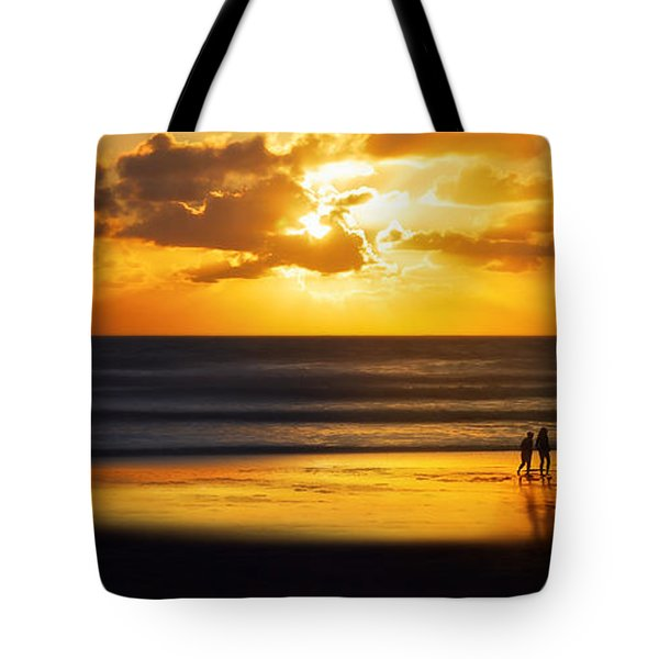 Walking Into The Sunlight Tote Bag by Hannes Cmarits