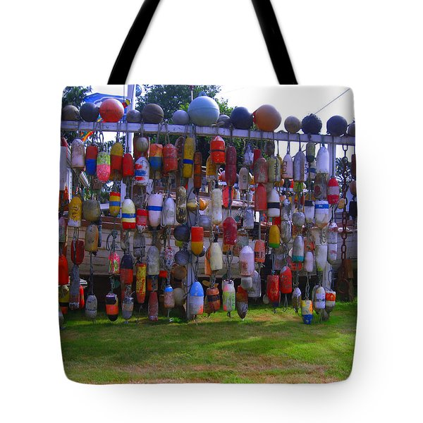 Wall Of Floats Tote Bag by Kym Backland