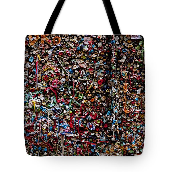 Wall Of Gum Tote Bag by Garry Gay