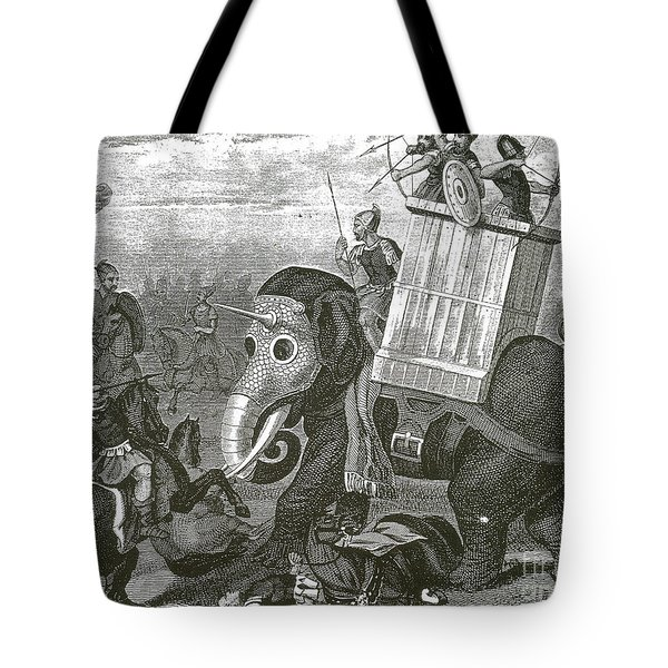 War Elephant Tote Bag by Photo Researchers