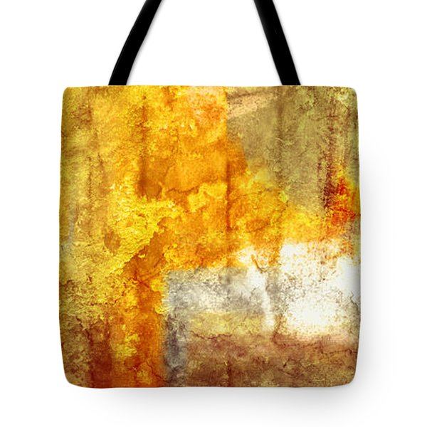 Warm Abstract Tote Bag by Brett Pfister